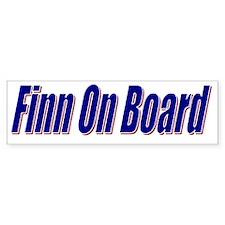 Finn On Board Bumper Bumper Sticker