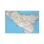 Sicily Rectangle Magnet