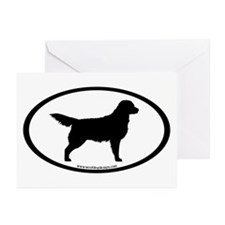 Golden Retriever Oval Greeting Cards (Pk of 20)