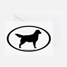 Golden Retriever Oval Greeting Card