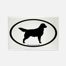 Golden Retriever Oval Rectangle Magnet (10 pack)
