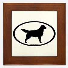 Golden Retriever Oval Framed Tile
