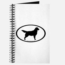 Golden Retriever Oval Journal
