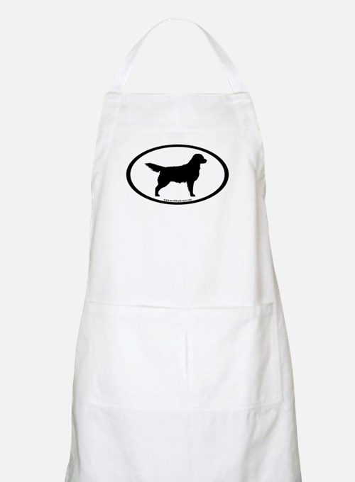 Golden Retriever Oval BBQ Apron