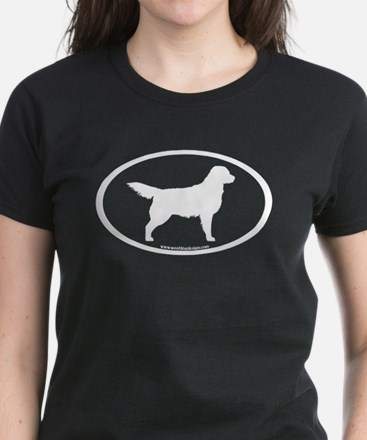 Golden Retriever Oval Women's Dark T-Shirt