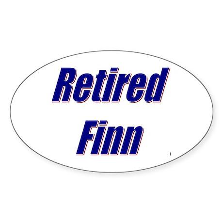 Retired Finn Oval Sticker