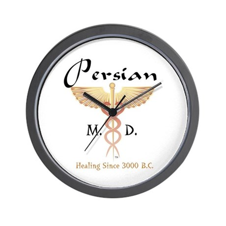 Red Persian M.D. Wall Clock