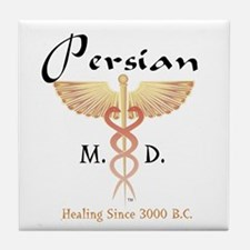 Red Persian M.D. Tile Coaster