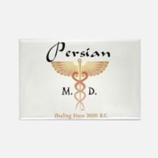 Red Persian M.D. Rectangle Magnet