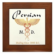 Red Persian M.D. Framed Tile