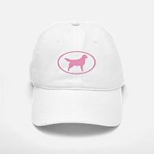 Pink Golden Retriever Oval Baseball Baseball Cap