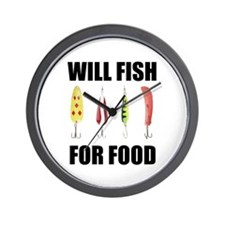 Will Fish For Food Wall Clock