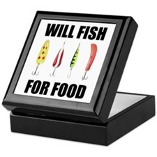 Will Fish For Food Keepsake Box