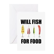 Will Fish For Food Greeting Card