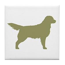Sage Golden Retriever Tile Coaster