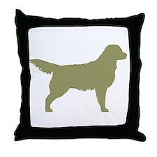 Sage Golden Retriever Throw Pillow