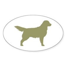Sage Golden Retriever Oval Decal