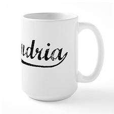 Vintage Alexandria (Black) Mug