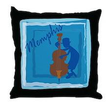 Cool Memphis Blue Throw Pillow