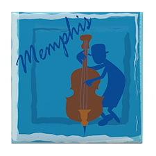 Cool Memphis Blue Tile Coaster