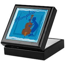 Cool Memphis Blue Keepsake Box