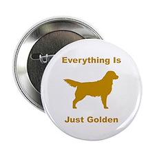 """Just Golden 2.25"""" Button"""