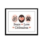 Peace Love Chihuahua Framed Panel Print