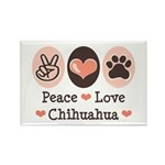 Peace Love Chihuahua Rectangle Magnet