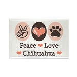 Peace Love Chihuahua Rectangle Magnet (10 pack)