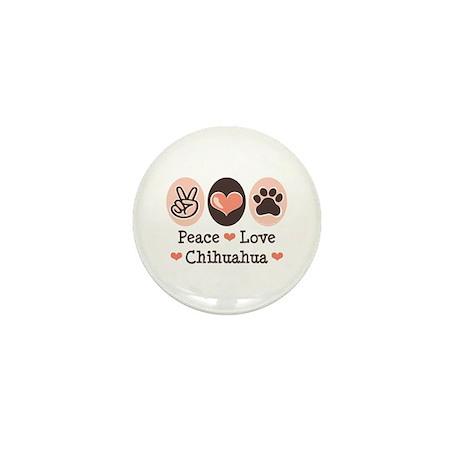 Peace Love Chihuahua Mini Button (10 pack)