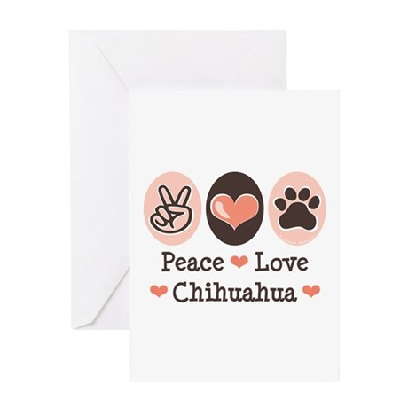 Peace Love Chihuahua Greeting Card