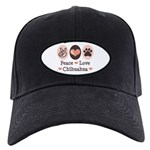 Peace Love Chihuahua Black Cap