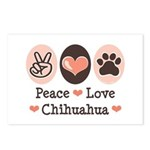 Peace Love Chihuahua Postcards (Package of 8)