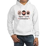 Peace Love Chihuahua Hooded Sweatshirt