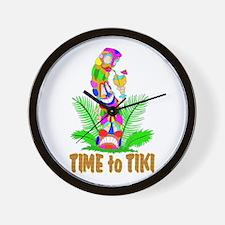 TIME to TIKI Wall Clock