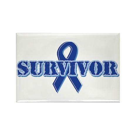 Blue Ribbon Survivor Rectangle Magnet (10 pack)