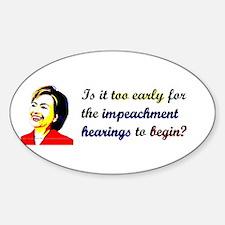 Impeach Hillary Oval Decal