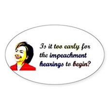 Impeach Hillary Oval Stickers
