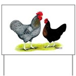 Black Sex-linked Chickens Yard Sign