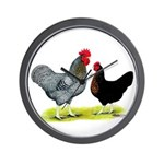 Black Sex-linked Chickens Wall Clock