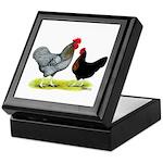 Black Sex-linked Chickens Keepsake Box