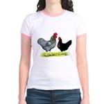 Black Sex-linked Chickens Jr. Ringer T-Shirt