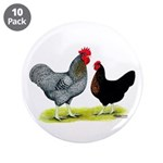 """Black Sex-linked Chickens 3.5"""" Button (10 pac"""