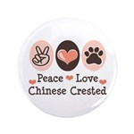 Peace Love Chinese Crested 3.5