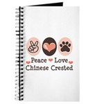 Peace Love Chinese Crested Journal
