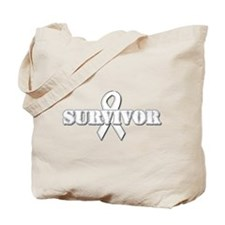 White Ribbon Survivor Tote Bag