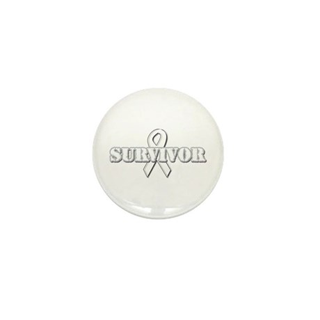 White Ribbon Survivor Mini Button (10 pack)