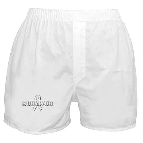 White Ribbon Survivor Boxer Shorts