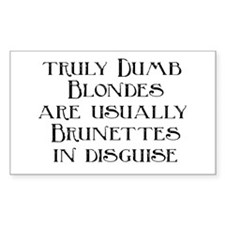 Dumb Blondes Rectangle Decal
