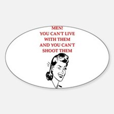 divorce gifts t-shirts Oval Decal